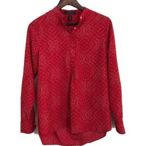 Lauren Ralph Lauren Red dotted blouse Women's PM